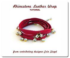 Rhinestone Leather Wrap