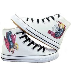 Fullmetal Alchemist Edward Elric Cosplay Shoes Canvas Shoes Sneakers -- Click on the image for additional details.(This is an Amazon affiliate link and I receive a commission for the sales)