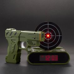 Gun And Target Recordable Alarm Clock