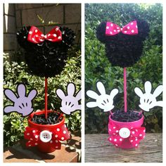 Minnie Mouse Centerpiece, Minnie Mouse Party Decorations via Etsy by Gigi Audrey Minnie Mouse Party Decorations, Minnie Mouse Theme Party, Minnie Mouse Baby Shower, Mickey Mouse Parties, Mickey Party, Disney Poster, Fete Halloween, Mickey Mouse Birthday, 3rd Birthday Parties