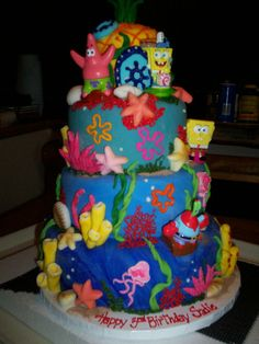 Spongebob and Patrick birthday cake