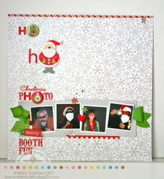 Doodlebug Design Inc Blog: Home for the Holidays: Layouts Inspiration Day 1 Sherry Cartwright created a super fun LO awesome pictures and great embellishments!