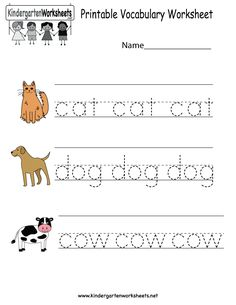71 Best English Worksheets images in 2018 | Preschool, Book, English ...