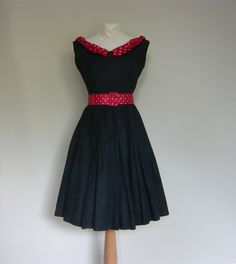 ORIGINAL VINTAGE 40'S 50'S TEADANCE GOODWOOD REVIVAL JIVE MADMEN DRESS 8 10 | eBay