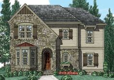 Frank Betz Associates has many house plans in our extensive database. Search for a house plan that will meet your needs! Town House Floor Plan, Cottage House Plans, Cottage Homes, French Country House Plans, French Cottage, House Layout Plans, House Layouts, Frank Betz, Narrow Lot House Plans