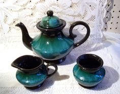 Vintage Blue Mountain Pottery BMP Teapot Sugar by TrueVintageJunk, $85.00