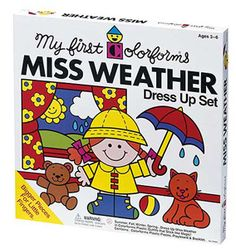 Miss Weather Colorforms Play Set  So remember spending hours playing this!