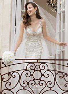 Sophia Tolli is a designer wedding dress line that features incredibly romantic wedding dresses from charming A-line silhouettes to classic high necklines. Sophia Tolli wedding dresses will make your wedding day feel even more magical. Gorgeous Wedding Dress, Dream Wedding Dresses, Beautiful Bride, Wedding Gowns, Bridal Collection, Dress Collection, Mon Cheri Bridal, Bride Look, Mod Wedding