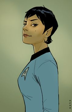 Oh, PLEASE! She needs to happen. Someone. Please. Spock's Daughter by Phil Noto