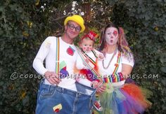 Clowning Around with Cool Homemade Clown Costumes for the Family... Halloween Costume Contest