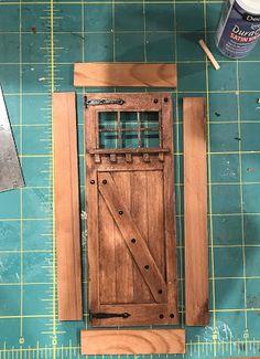 Cabin Dollhouse, Dollhouse Door, Cabin Doors, House Doors, Miniature Furniture, Dollhouse Furniture, Metal Walls, Metal Wall Art, Diy Cabin