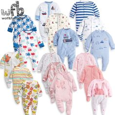 Cool Retail 3pcs/pack 0-12months long-Sleeved Baby Infant cartoon footies bodysuits for boys girls jumpsuits Clothing newborn clothes - $30.8 - Buy it Now!