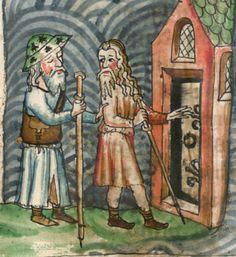 Jacobus : Legenda sanctorum aurea, verdeutscht in elsässischer Mundart [u. Medieval Life, Medieval Art, Christian Images, Ancient Mysteries, Medieval Clothing, Saint James, 14th Century, Pilgrimage, Middle Ages