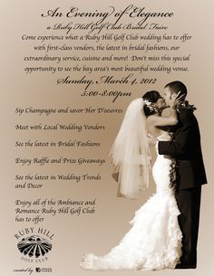 Ruby Hill Bridal Faire - March 4th, 2012.  5:00 - 8:00 ~ Open to everyone!