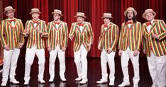 Mashable: Jimmy Fallon gives a Weezer classic the barbershop quartet treatment <<< I saw the Disneyland Barbershop Quartet and instantly thought look it's Weezer and laughed to myself and omg I think my parents are ready to disown me Weezer, Barber Shop Quartet, Late Night Show, Baby Got Back, Buddy Holly, St Style, Tonight Show, Jimmy Fallon, Ol Days