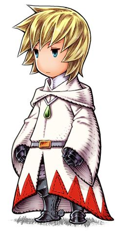 From Final Fantasy III. I like how it's a white mage design still having visible armor beneath the traditional cloak.
