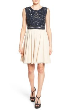 Lace & Beads Miami Embellished Skater Dress