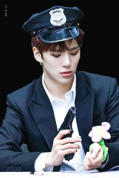 FY! MONSTA X Minhyuk Cop #Police ;) he can arrest me any day~
