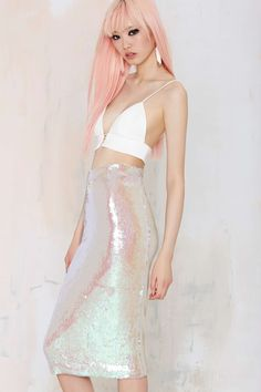 Essentiel Atlantis Rising Sequin Skirt | Shop Clothes at Nasty Gal!