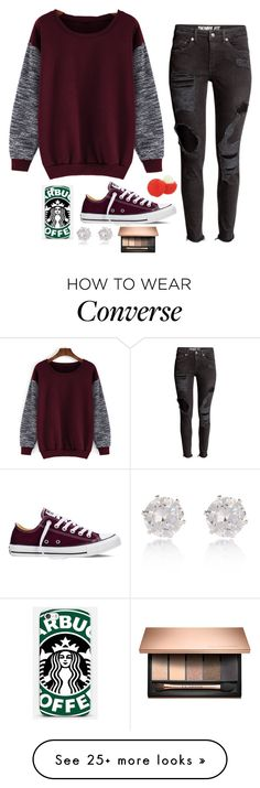 """""""Untitled #2931"""" by if-i-were-famous1 on Polyvore featuring Converse, Samsung, River Island and Eos"""
