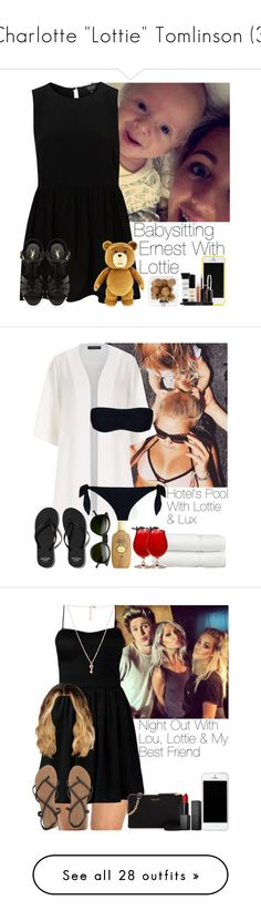 """""""Charlotte """"Lottie"""" Tomlinson (3)"""" by the-girl-in-the-hallway ❤ liked on Polyvore featuring Yves Saint Laurent, Smashbox, Dorothy Perkins, Dolce&Gabbana, Linum Home Textiles, Abercrombie & Fitch, INDIE HAIR, Sun Bum, Morgan and Forever 21"""