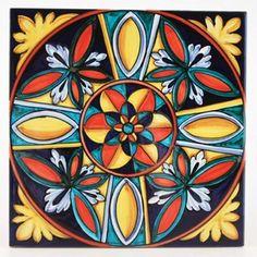 Deruta italian ceramic tiles - Tile 06