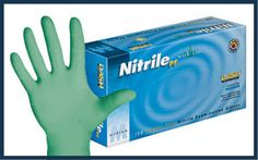 Textured Green Nitrile Powder Free Exam Gloves with Aloe Vera. Puncture resistant and fully textured for an enhanced grip, DASH Nitrile PF . High Risk, Aloe Vera, Drugs, Dental, Protein, Moisturizer, Safety, Powder, Gloves