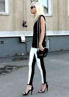 linear| two faced pants