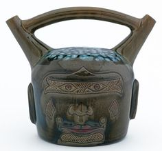 Earthenware Aztec style vase, made by Christopher Dresser for Linthorpe Pottery, English, 1850–1900 </br> © CSG CIC