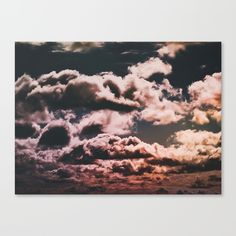 Sherbert Clouds Canvas Print by Tidesright. Worldwide shipping available at Society6.com. Just one of millions of high quality products available.