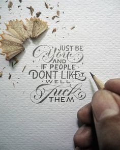 """Measuring just a few inches in size, the hand drawn lettering project by Indonesian artist Dexa Muamar are carefully rendered. But the crisp text belies the meaning of the quotes that he chooses which don't hesitate to punch you in the gut. """"Practice makes perfect but nobody is perfect so why practice,"""" says one ironic image. Another one makes the suggestion, """"Drink some coffee, put on some gangster rap, and handle it."""" The artist says, """"I love the 'truest' quotes,"""" as he shies away from…"""