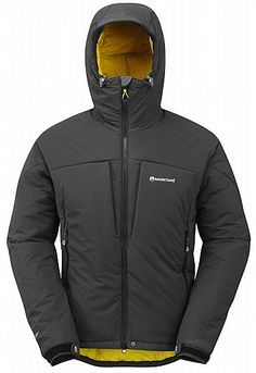 MONTANE ICE GUIDE JACKET Designed for cold winter ascents, the Montane men's Ice Guide Jacket is a mountaineer's mountain jacket. Featuring stretch PERTEX Microlight outer shell for optimum body movement and cold weather wind and snow protection.  Filled with deep layers of PRIMALOFT in the body, hood and arms for core body comfort, this is our warmest synthetic jacket by far, providing considerable protection in hostile conditions.