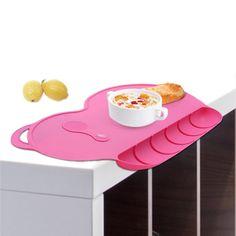 赤ちゃんシリコンプレート吸盤滑りにくい赤ちゃんパッドシリコーンプレイスマット防水スナックマット食品ポケット子供ディナープレート食器セット