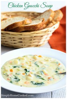 Chicken gnocchi soup, just like Olive Garden's, but better! The creamiest and richest soup you'll ever make.