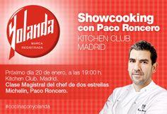 Paco Roncero #CocinaConYolanda en próximo lunes en un showcooking con bloggers gastronómicos.
