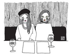 """Check out new work on my @Behance portfolio: """"Marie and Miriam/ 사이좋은 여자 둘"""" http://be.net/gallery/44299325/Marie-and-Miriam-"""