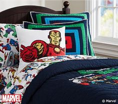 Marvel quilted bedding | Pottery Barn Kids