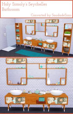 Holy Simoly's Seychelles Bathroom and Ocean Grove Shower Converted by Saudade Sims This is my favorite bathroom of all time so I had to convert it. All the meshes and textures belong to the fabulous...