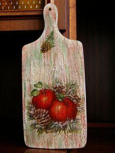 decoupage ----- cutting board------------- deska do krojenia ------- deska-zimowa.jpg (600×800)