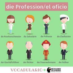 Vocabulario en alemán - las profesiones #aprenderaleman