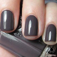 Essie 739 smokin Hot...dark purple tinged charcoal grey creme