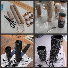DIY Halloween Candles by blackicelycanStudio Slyter: DIY Halloween Candles these are cool!DIY Halloween Candles Links a bust but the pictures are pretty self-explanatory.DIY Halloween Candles from tea lights and paper towel tubesDIY Halloween Candles Soirée Halloween, Adornos Halloween, Halloween Candles, Holidays Halloween, Halloween Clothes, Halloween Costumes, Decoration Haloween, Easy Halloween Decorations Diy, Spooky Decor