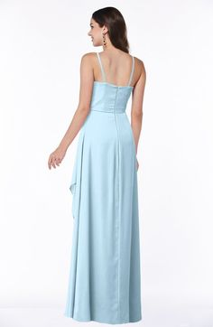 Ice Blue Sexy Halter Sleeveless Zipper Chiffon Ruching Plus Size Bridesmaid Dresses