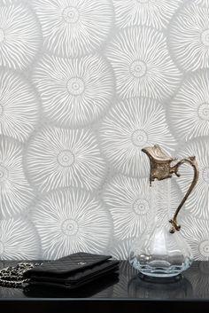 Frisson d'ombrelles | Collection Standard / papier peint intissé / gris / grey / wallpaper / luxury / luxe