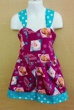 Frozen Little Girls Retro Romper
