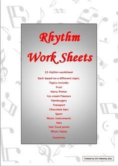 Music Theory: 12 RHYTHM Worksheets