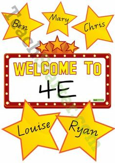 Class Welcome Sign – Hollywood Stars