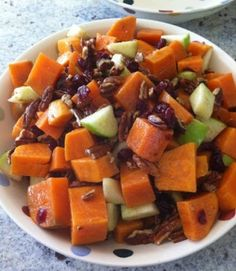 Sweet Potatoes & Apple Salad - No Sodium Recipes For National Nutrition Month ~ JamericanSpice