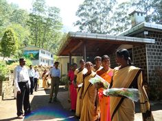A most gracious reception at Indulgashinna Tea Estate, Sri Lanka. This is one of the the world's first certified organic tea estates...and, an incredible place in the world!