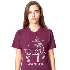 Deer Shirt Women's Cranberry, $27, now featured on Fab.